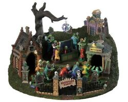 Lemax Spooky Town Graveyard Party 94488 New In Box Inspected Hard To Find