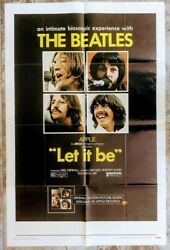 Let It Be The Beatles 1970 Usa One Sheet Poster 27 X 41