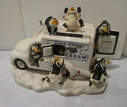Franklin Mint Good Humor Ice Cream Truck With Penguins Musical And Animated W/ Coa