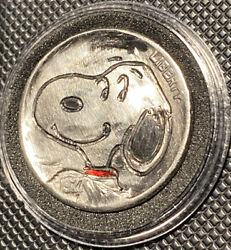 Hand Carved Engraved Hobo Nickel Coin 1927 Snoopy Woodstock On Back Side $12.75