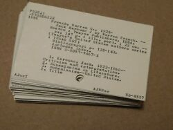 Vintage School Library Catalog Cards Unique Craft Altered Art 3 X 5 Lot Of 50