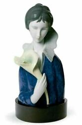 Lladro Retired Limited Edition 01008385 A Woman With Blue Eyes And Calla Lilly