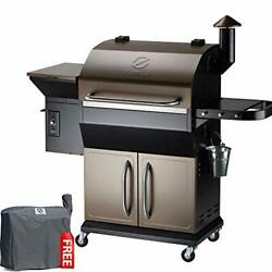 Zpg-1000d 2020 New Model Wood Pellet Grill And Smoker, 8 In 1 1000 Sq In Copper