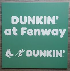Dunkin Donuts Sign From Fenway Park Mlb Boston Red Sox Game Used Store Scarce