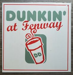 Metal Dunkin Donuts Sign From Fenway Park Mlb Boston Red Sox Game Used Store