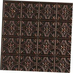 Gothic Reims-faux Tin Ceiling Tile - 25-pack Pack Of 25 Antique Copper
