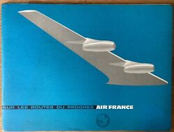 Air France 1958 Profile Brochure B707 Constellation Caravelle Route Map