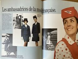 Air Inter France Airlines History Book Caravelle A300 Stewardess Route Map 1988