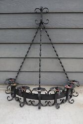 Spanish Revival Gothic Wrought Iron Wall Candelabra Sconce Vintage Candle Holder