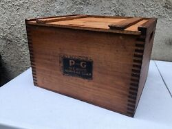Rare Vintage Procter And Gamble Naphtha Soap Wood Box Crate Promo Large 15x11 Wow