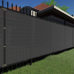 Tang Sunshades Depot Privacy Fence Screen Black 4and039 X 25and039 Heavy Duty Commercial W