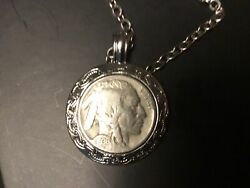 1936 D Buffalo Nickels 3 And Half Legs Indian Head Nickel Secure In Necklace