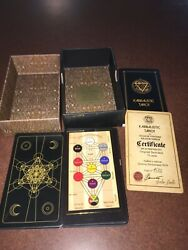 Kabbalistic Tarot Card Deck Limited Author's Edition Certificate Of Authenticity