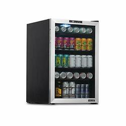 Beverage Refrigerator And Cooler Free Standing Glass 160 Can Stainless Steel