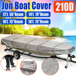 12and039 14and039 16and039 18and039 Boat Cover Heavy Duty Trailerable Jon Boat Cover Fits Jon Boat