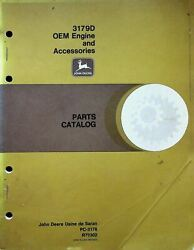 John Deere 3179d Oem Engine And Accessories Parts Book Catalog Manual Pc3178