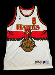 Hawks Champion Game Jersey Steve Smith Nba Issued Used Worn Signed