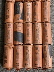 Vintage Paper Roll Standing Liberty Silver Quarters 10 Face Value 40 Coins Each
