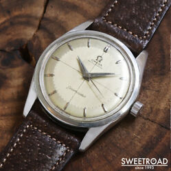 1956 Omega Seamster Ref.2869-1 Two-tone Silver Dial Automatic Ss 34mm