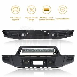 Front And Rear Bumper For Ford F150 2009 2010 2012 2013 2014 Guard W/ Led Lights