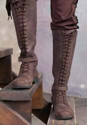 Medieval Leather Boots / Cosplay Leather Shoes