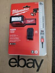 Milwaukee 2012r Rechargeable Magnetic Headlamp 450 Lumens Free Same Day Shipping