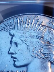 1934 D Double Die Peace Dollar Ngc Certified Uncirculated Details Le933 Scarce