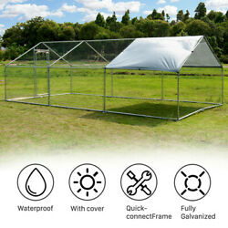 2010 Ft Walk In Coop Chicken Run Backyard Hen House Poultry Rabbit Cage And Cover