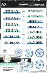 MAMBI The Happy Planner Dry Erase Removable Decals Indigo AF1DEARD3 007