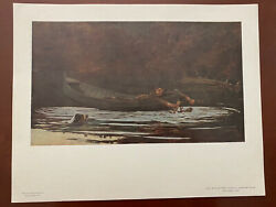 Vintage quot;Hound and Hunterquot; Print by Winslow Homer National Gallery of Art