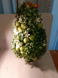 20 Inch Tall 11 Inch Wide Apple Pear Topiary Tree In Green Ceramic Planter