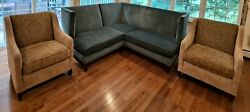 Lee Industries Sectional Sofa Two William Alan Armchairs Living Room Set