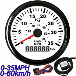 85mm Gps Speedometer Odometer 35mph/60km/h Gauge For Cr Boat Motorcycle Truck