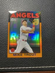 Rare 2021 Topps Chrome Mike Trout Orange Refractor Sp Serial And039d 18/25