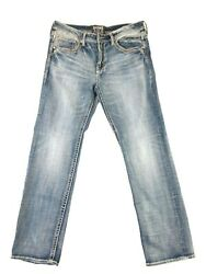 Salvage Anarchy Relaxed Straight Stretch Menand039s Jeans For Buckle Size 36x34