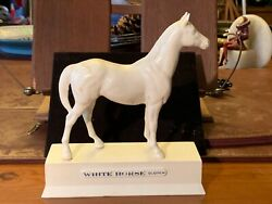 Vintage White Horse Scotch Whiskey Back Bar Display Statue Tall Decor Cocktails