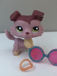 LPS pink and red collie accessories INCLUDED #1723 2007