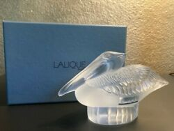 LALIQUE Crystal Pelican Paperweight