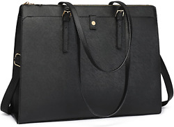 Laptop Tote Bag for Women 15.6 Inch Women Leather Computer Briefcase for Work Wa $41.89