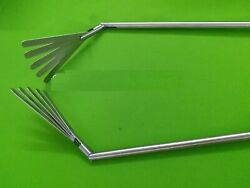 2pcs Fan Retractor 5 French 10mmx450mm Laparoscopic Surgical Instruments