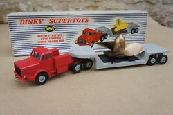 Veritable Dinky Toys 986 Mighty Antar Low Loader With Propeller