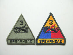 U.s Army 3rd Armored Division Spearhead Military Uniform Collectible Patches