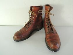 Vintage 1960s Red Wing Irish Setter Leather Work Boots Size 9.5 D