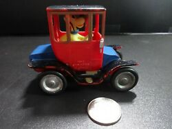Marx Disney Pluto In 1910 Studebaker Red And Blue Car - Loose