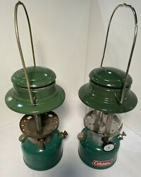 Vintage Pair Coleman Lanterns Model 335 From 1972 And 1973