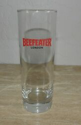 Beefeater London Gin Tall Cocktail Glass Tonic Tom Collins Collectible Euc