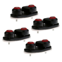 4x Black Plastic Sailboat Cam Cleat For Dia. 10-14mm Rope Boat Fast Entry