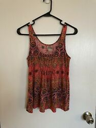 Lucky Brand Multicolor Super Soft Women's Tank Top Size XS $15.00