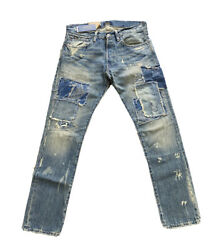 Polo Sullivan Slim Cortlind Repaired Patchwork Patch Jeans 36 X 34
