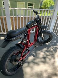 Super 73 Rx Electric Bike Carmine Red Used With Original Battery And Charger